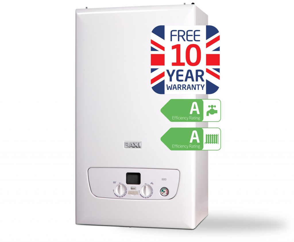 Free 10 year Warranty on Baxi Boilers